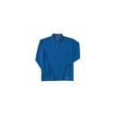 ホシ服装 225 長袖ポロシャツ 5Rブルー L