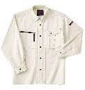 ホシ服装 653 長袖シャツ 1アイボリー LL