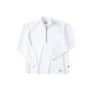 ホシ服装 229 長袖ZIPシャツ 10 ホワイト LL