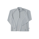 ホシ服装 229 長袖ZIPシャツ 20 シルバー 4L