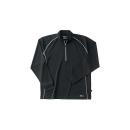 ホシ服装 229 長袖ZIPシャツ 40 ブラック 5L