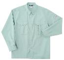 ホシ服装 5330 長袖シャツ アースグリーン L