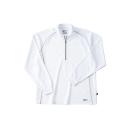ホシ服装 229 長袖ZIPシャツ 10 ホワイト L