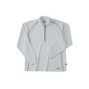 ホシ服装 229 長袖ZIPシャツ 20 シルバー 5L