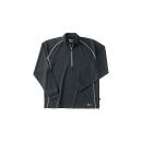 ホシ服装 229 長袖ZIPシャツ 40 ブラック M