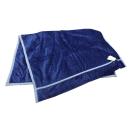昭和西川 ふっくらなめらかわた入り 衿付合わせ毛布 ネイビー 140×200