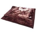 京都西川 蓄熱わた入り 衿付毛布 ピンク シングルサイズ