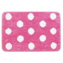 バスマット ファンシードット 45×65cm ピンク