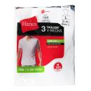 Hanes(ヘインズ) Vネック Tシャツ (白) L 3枚組 HM1EG753OE
