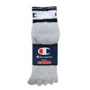 靴下 チャンピオン 5本指クォーター 25−27cm 3足組 (銀グレー) CMSCG202