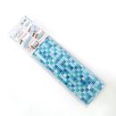 貼ってはがせるデコタイルシート ガラス調モザイクタイル (ブルー)