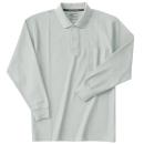 ホシ服装 235 長袖ポロシャツ 2杢グレー L