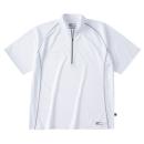 ホシ服装 228 半袖ジップアップシャツ ホワイト S