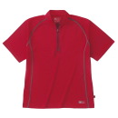 ホシ服装 228 半袖ZIPシャツ 70レッド S