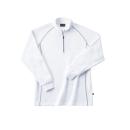 ホシ服装 249 裏起毛ZIPシャツ 10ホワイト L