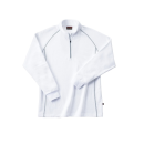 ホシ服装 249 裏起毛ZIPシャツ 10ホワイト 3L