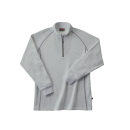 ホシ服装 249 裏起毛ZIPシャツ 20ライトグレー3L