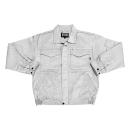 クロダルマ 綿混作業ブルゾン シルバー 3L