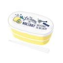 レモン&ホリデー ランチボックス2段(仕切り付) PW−7