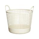 スカンジナビアスタイル ラウンドバスケット ホワイト WSCB−1