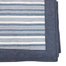 肌触りさらさら綿ラグ エルフ2 長方形 1.5帖用 130×185 ブルー