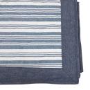肌触りさらさら綿ラグ エルフ2 長方形 3帖用 190×240 ブルー
