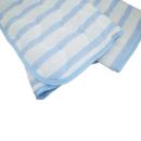 吸水速乾(糸地) やわらかパイル敷パッド ダブルサイズ ボーダー ブルー