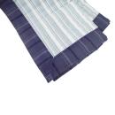 洗濯機で洗えるキルトラグ ラッシュ2 2帖用 ブルー