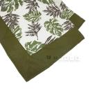 肌触りさらさら綿ラグ ステーラRH 正方形 2帖用 185×185 グリーン