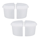 製氷カップ ハーフ ふた付2セット(4個)