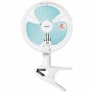 タイマー付クリップ扇風機 YCT−F18 ホワイトブルー