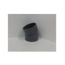 VU継手 排水用 22度1/2エルボ 75