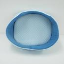 イエモア メッシュ 丸型 ペットベッド ブルー