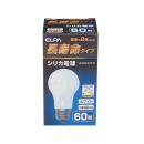 ELPA 長寿命タイプ シリカ電球 ホワイト LW100V57W−W