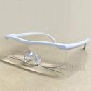 トレードワン メガネ型拡大ルーペ ホワイト