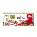 富士通 アルカリ乾電池 プレミアム 単4形 1.5V 20個パック LR03FP(20S)