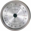 エンペックス 温湿度計 E×2727 スーパーE×高品質 メタリックグレー