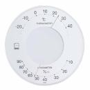 エンペックス セレナ 温・湿度計 ホワイト LV4303
