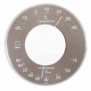 エンペックス セレナ カラー温・湿度計 グレー LV4357
