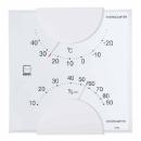 エンペックス エルム 温湿度計 ホワイト LV4901