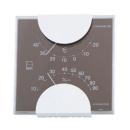 エンペックス エルム カラー温・湿度計 グレー LV4957