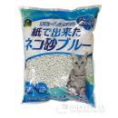 イエモア 紙で出来たネコ砂 ブルー 13.5L