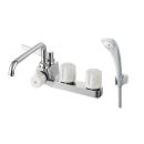 三栄水栓 2バルブデッキ シャワー混合栓(一時止水) SK71041L-LH-13