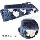 京都西川 わた入り ソフトタッチ 2枚合わせ毛布 ブルー 140×200
