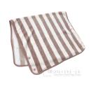 ストライプ マルチ毛布 ピンク 120×70