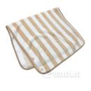 ストライプ マルチ毛布 ベージュ 120×70
