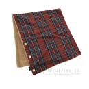 ウール混 マルチ毛布 レッド 60x130