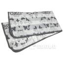 しっとりなめらか敷きパッド シアバター加工 シングル 約100×205cm グレー