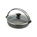 贅の極み ふっ素加工IH対応ガラス蓋付すきやき鍋 30cm
