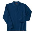 ホシ服装 245 裏起毛ポロシャツ 6ネイビー M 長袖
